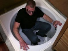 Not only is the Bath positively inspired (and totes necessary for moi), BUT, the custom expandable table perfectly fits my hostessing ways!! Tiny House Nation: Steve's Luxurious Hidden Bathtub (S1, E8) - YouTube