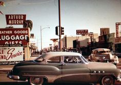 Intersection of San Jose Avenue and San Fernando Road in Burbank, California, early 1950's.