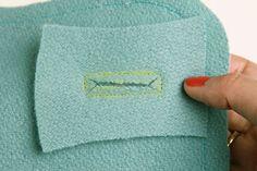 How to make bound buttonholes -- via Sarai Mitnick   Coletterie   Collete Patterns