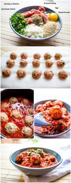 the best turkey meatballs with herbed gravy recipe pinterest gravy baked turkey and recipes