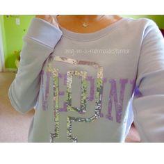 """VSPINK """"Love Pink"""" crew neck lavender // comfy // soft // sequins!!!! // says """"Love Pink"""" // make an offer‼️ PINK Victoria's Secret Sweaters Crew & Scoop Necks"""