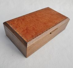 Jewellery Box - Solid Walnut & Madrona Burr £175.00      #CRAFTfest            Norfolkwoodcrafts  on Folksy
