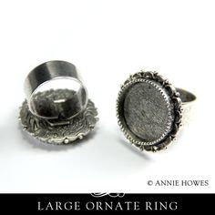 Make something crafty. Antique Silver Plated Ornate Ring Setting in Circle Shape. Offered by Annie Howes.