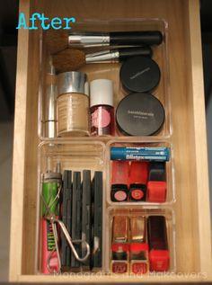 Make up organziation, organizing make up