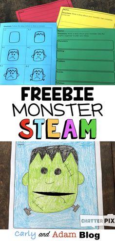 Halloween Monster STEAM Freebie Writing Activity — Carly and Adam Steam Activities, Halloween Activities, Writing Activities, Halloween Ideas, Teaching Skills, Teaching Ideas, Classroom Freebies, Classroom Ideas, Stem Teacher