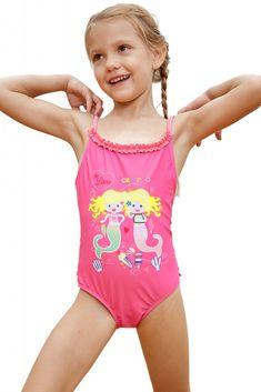 fe5a6bdb001f1 Pink Little Mermaid Princess Teddy Swimsuit