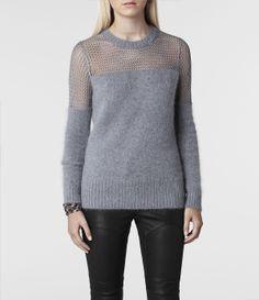 AllSaints Minako Mesh Jumper | Womens Sweaters