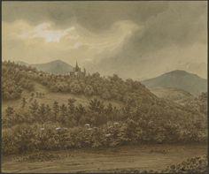 Eugène Viollet-le-Duc, Saint-Savin, 07 juillet 1833 Lavis gouache Ministère de la Culture (France), Médiathèque de l'architecture et du patrimoine, dist. RMN