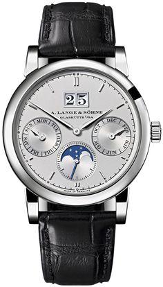 A. Lange & Sohne Saxonia Annual Calendar Silver Dial Men's Watch 330.025