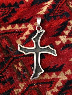 Vintage Sterling Silver Cross Pendant Made in Taxco for sale on Etsy for only $30.00!