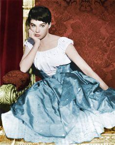 Leslie Caron as Ella in The Glass Slipper (1955).