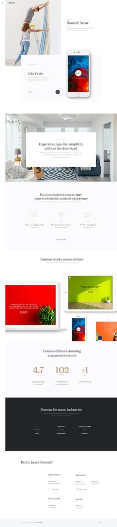 Famous - Industriy: Ui design concept and visual style by UENO.