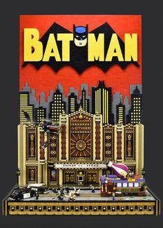 Gotham Theater Showdown: Epic LEGO Batman comic book cover http://www.brothers-brick.com/2016/07/06/gotham-theater-showdown-epic-lego-batman-comic-book-cover/
