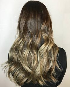Brown To Ash Blonde Ombre