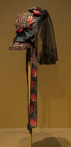 Bonnet | Europe | 1860 | straw | FIDM Museum | Helen Larson Historic Fashion Collection