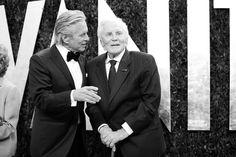 Michael and Kirk Douglas.The 2012 Vanity Fair Oscar Party | Hollywood | Vanity Fair
