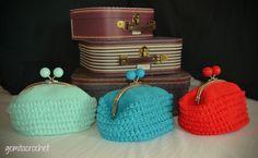 bolso vintage a crochet