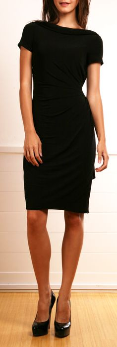 Can never go wrong with a little black dress. So easy to dress up with different colors. I love black!
