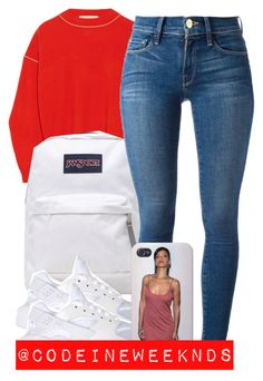 """""""8:9:15"""" by codeineweeknds ❤ liked on Polyvore featuring STELLA McCARTNEY, JanSport, Frame Denim and NIKE"""