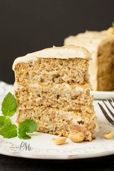 Scratch-Made Banana Cake with Peanut Butter Frosting Recipe is the ultimate dessert for the ultimate banana and peanut butter lover! A classic banana cake is topped with a fluffy, creamy peanut butter frosting. This cake is soft and fluffy and amazing!