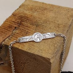 The World is yours baby sterling silver bracelet