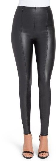 0e1ccfab2bef91 Nordstrom | Women's Lysse High Waist Faux Leather Leggings | Four way  stretch | Burgundy
