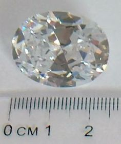 "29 carat lab-grown white sapphire from ""19 Big Secrets About Astro Gems"" available on Amazon or go to astrogembook.com"