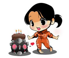 """The Cake is True"" Portal fan art"