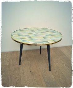 Grande Table Basse Vintage Tripode Revisitée