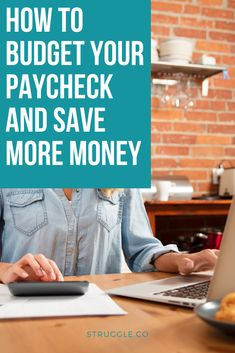 How to Budget Your Paycheck and Save More Money Money Hacks, Money Tips, Money Saving Tips, Monthly Budget, Budget Planner, Earn More Money, Ways To Save Money, Living On A Budget, Frugal Living