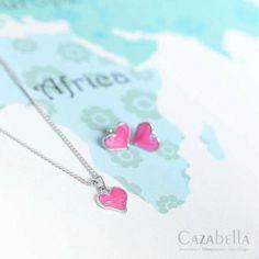 Pink heart necklace & earring set. SNE005-77 @ R100    #jewelry #fashion #cute #trendy #love #fashionjewelry #instajewelry #fashionista ronel.cazabella@yahoo.com Earring Set, Fashion Jewelry, Heart, Silver, Pink, Trendy Fashion Jewelry, Pink Hair, Costume Jewelry, Stylish Jewelry