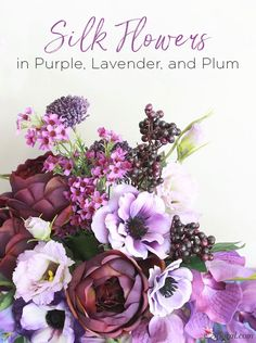 Purple, Lavender, an