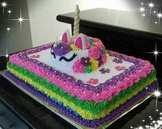 Chocolate and hazelnut cake - HQ Recipes Unicorn Themed Birthday Party, Unicorn Party, Girl Birthday, Raspberry Smoothie, Apple Smoothies, Mini Cakes, Cupcake Cakes, Pastel Rectangular, Bolo Barbie