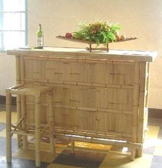 bamboo bar vintage tiki - Google Search Bamboo Bar, Vintage Tiki, Hope Chest, Cabinet, Google Search, Storage, Furniture, Home Decor, Clothes Stand