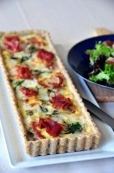 Spinach, Brie and Prosciutto Tart with Pecan Crust - User Submitted - Entrees - Recipes - Cuisinart.com