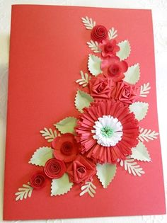 Quilled card for friends 40th Anniversary by: ChrisLee