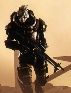 Mass Effect - Garrus (Garrus 2 by AngryRabbitGmoD on DevianArt) Mass Effect Garrus, Mass Effect 1, Mass Effect Universe, Tomb Raider Cosplay, Survival, World Of Warcraft, Science Fiction, Video Games, Sci Fi