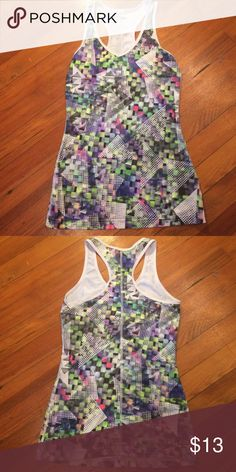 Workout Tank EUC - multicolored/checkered Fila Tops Tank Tops