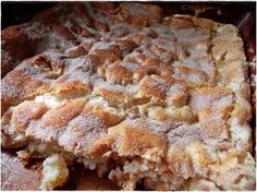 1 CAN APPLE PIE FILLING 1 BOX ANGEL FOOD CAKE MIX (DRY) SUGAR CINNAMON CARAMEL (OPT)  DIRECTIONS:   MIX THE DRY ANGEL FOOD CAKE MIX WITH THE APPLE PIE FILLING, POUR INTO A GREASED 9X13 CAKE PAN, SPRINKLE WITH CINNAMON AND SUGAR.  BAKE AT 350@ FOR 20-30 MINUTES. DO NOT OVER BAKE, CAKE IS DONE WHEN BROWNED ON TOP BUT NOT COMPLETELY SET. ( IF USING A GLASS PAN BAKE AT 325@)  REMOVE FROM OVEN AND SERVE WITH A DOLLOP OF COOL WHIP. ALSO GREAT WITH VANILLA ICE CREAM AND CARAMEL.