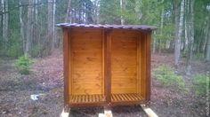 Купить Дровница для загородного участка - коричневый, дровница, хранение дров, для дров, домик для дров