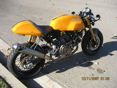 rear indicator delete + single exhaust. ducati sportclassic 1000
