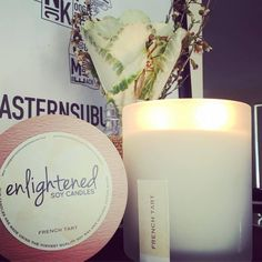 Amazing, out of this world candles by Enlightened Soy Candles.  Label Design by Phinici Design.