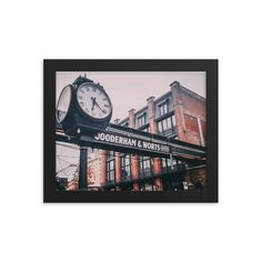 Framed poster of Distillery District in Toronto - Canada - Toronto photographer - Framed Photo Print - Home Decor - Wall Art Toronto Photographers, Toronto Canada, Distillery, Wall Art Decor, Frame, Prints, Handmade, Poster, Etsy