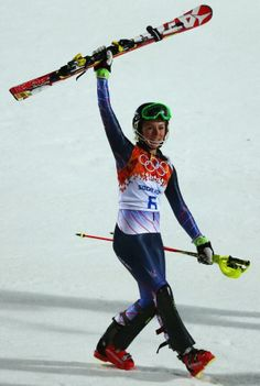 Mikaela Shiffren (USA) becomes the youngest woman (18) to win Olympic Slalom gold.