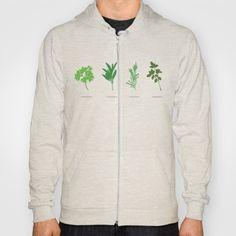 Scarborough Fair Hoody - Minimalist, silhouette, herbs, green, Simon and Garfunkel, Paul Simon, lyrics, fan art, parsley, sage, rosemary, thyme, art, design, illustration, vector, hoodie, apparel