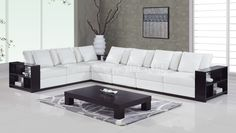 Sofa with wooden hands