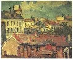 The roofs - Paul Cezanne