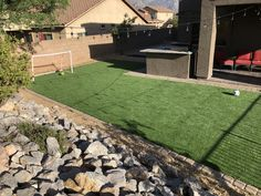 Removed sod and installed synthetic grass Grass Pavers, Flagstone, Artificial Grass Installation, Commercial Landscaping, Oro Valley, Green Valley, Garage House, Pool Decks, Bouldering