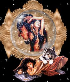 Glitter Graphics: the community for graphics enthusiasts! Native American Girls, Native American Wisdom, Native American Pictures, Native American Artwork, Indian Pictures, African American Art, American Indians, Sioux, Wolves And Women