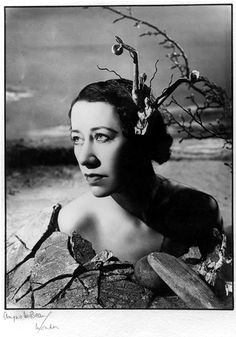Uncanny similarity … the actor Flora Robson, photographed by Angus McBean. Photograph: The President and Fellows of Harvard College/National...